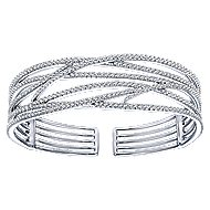 14k White Gold Kaslique Bangle angle 1