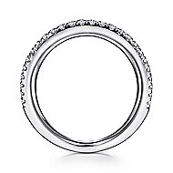14k White Gold Kaslique Fashion Ladies' Ring angle 2