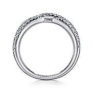 14k White Gold Kaslique Fashion Ladies Ring