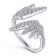 14k White Gold Kaslique Fashion Ladies' Ring