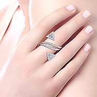 14k White Gold Kaslique Statement Ladies' Ring angle 5