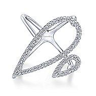 14k White Gold Kaslique Statement Ladies' Ring angle 1