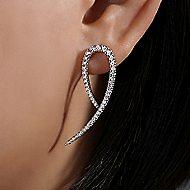 14k White Gold Kaslique Stud Earrings
