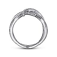 14k White Gold Kaslique Twisted Ladies' Ring angle 2
