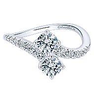 14k White Gold Lusso Classic Ladies Ring