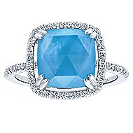 14k White Gold Lusso Color Classic Ladies' Ring