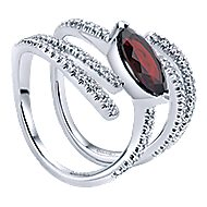 14k White Gold Lusso Color Fashion Ladies' Ring