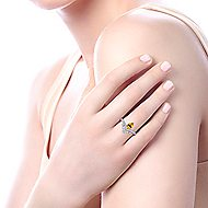 14k White Gold Lusso Color Fashion Ladies Ring