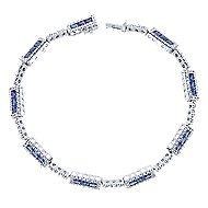 14k White Gold Lusso Color Tennis Bracelet angle 1