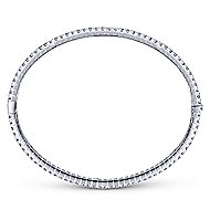 14k White Gold Lusso Diamond Bangle