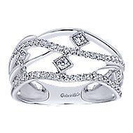 14k White Gold Lusso Diamond Fashion Ladies' Ring angle 4