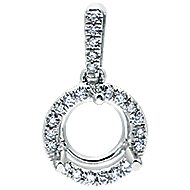 14k White Gold Lusso Diamond Fashion Pendant angle 1