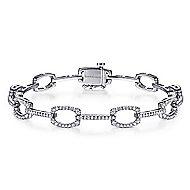 14k White Gold Lusso Diamond Tennis Bracelet angle 1