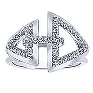 14k White Gold Lusso Fashion Ladies' Ring