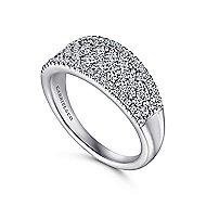 14k White Gold Lusso Fashion Ladies' Ring