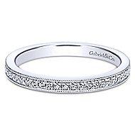 14k White Gold Lusso Midi Ladies' Ring angle 1