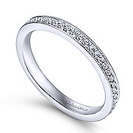 14k White Gold Lusso Midi Ladies' Ring angle 3
