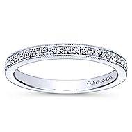 14k White Gold Lusso Midi Ladies' Ring angle 4