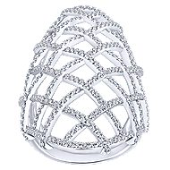 14k White Gold Lusso Statement Ladies' Ring