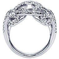 14k White Gold Lusso Twisted Ladies' Ring angle 2