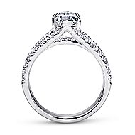 14k White Gold Marquise  Split Shank Engagement Ring angle 2