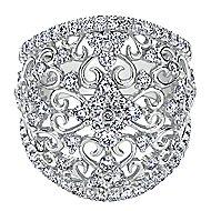 14k White Gold Mediterranean Fashion Ladies' Ring angle 1