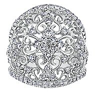 14k White Gold Mediterranean Fashion Ladies' Ring angle 4