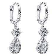 14k White Gold Messier Drop Earrings