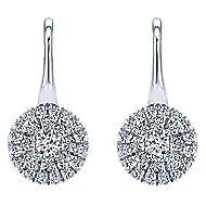 14k White Gold Messier Drop Earrings angle 1