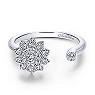 14k White Gold Messier Fashion Ladies' Ring angle 1