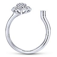 14k White Gold Messier Fashion Ladies' Ring angle 2
