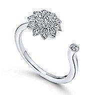 14k White Gold Messier Fashion Ladies' Ring angle 3