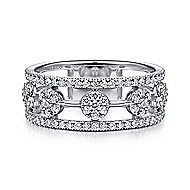 14k White Gold Messier Fashion Ladies' Ring