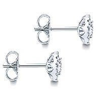 14k White Gold Messier Stud Earrings angle 3