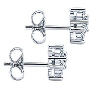 14k White Gold Messier Stud Earrings angle 3