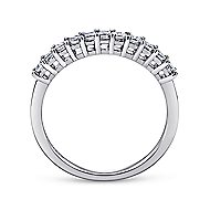 14k White Gold Princess Cut 11 Stone Diamond Anniversary Band