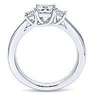 14k White Gold Princess Cut 3 Stones Engagement Ring angle 2