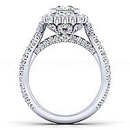 14k White Gold Princess Cut Double Halo Engagement Ring