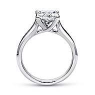 14k White Gold Princess Cut Solitaire Engagement Ring