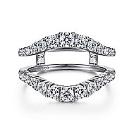 14k White Gold Prong Set Diamond Enhancer