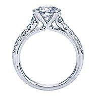 14k White Gold Round Straight Engagement Ring angle 2