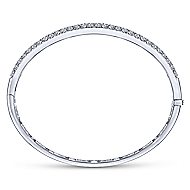 14k White Gold Silk Bangle