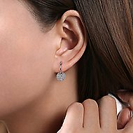 14k White Gold Silk Drop Earrings