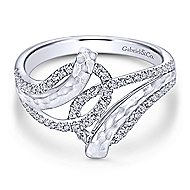 14k White Gold Souviens Fashion Ladies' Ring angle 1