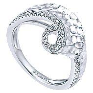 14k White Gold Souviens Fashion Ladies' Ring angle 3