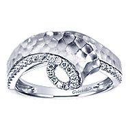 14k White Gold Souviens Fashion Ladies' Ring angle 5