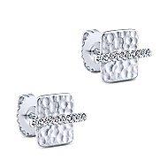 14k White Gold Souviens Stud Earrings