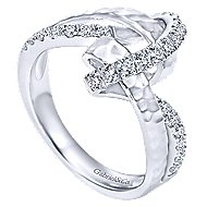 14k White Gold Souviens Twisted Ladies' Ring