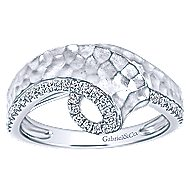 14k White Gold Souviens Twisted Ladies' Ring angle 4