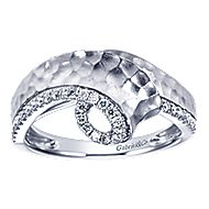 14k White Gold Souviens Twisted Ladies' Ring angle 5